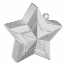 Atsvariņš, Zvaigzne, Sudrabs, (9 cm)