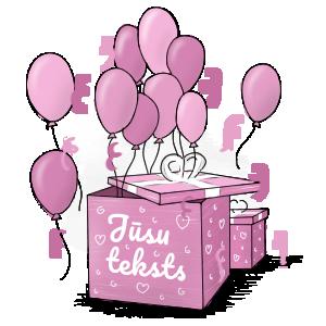 Kaste ar baloniem: neparasta dāvana